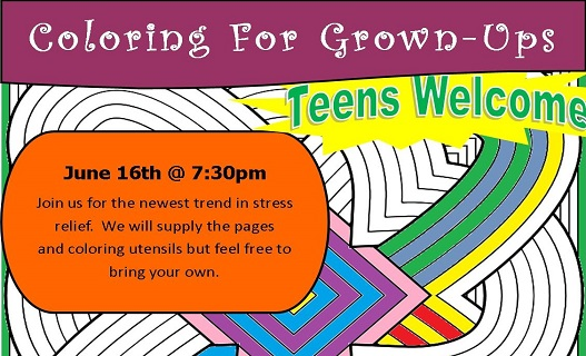 Coloring for Grown-ups June16twweb