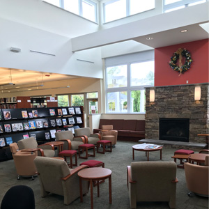 Monroe Township Public Library Fireplace
