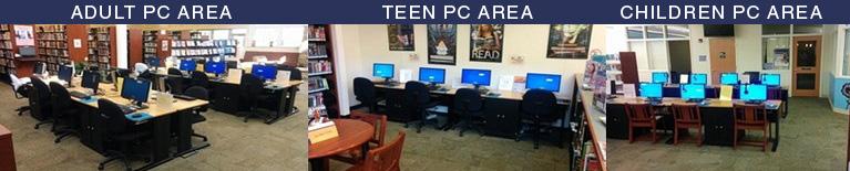 Monroe Township Public Library public-acces intenet computers